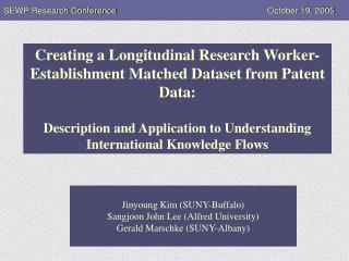 SEWP Research Conference				        October 19, 2005