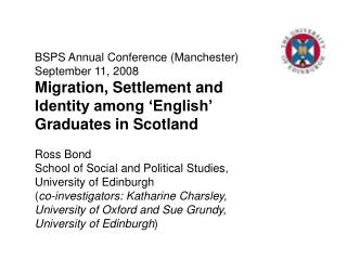 BSPS Annual Conference (Manchester) September 11, 2008