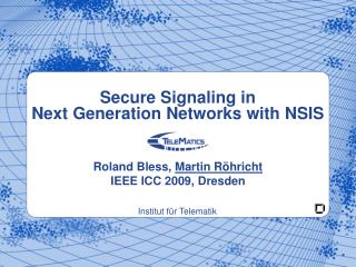 Secure Signaling in  Next Generation Networks with NSIS