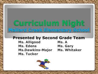 Curriculum Night Mallard Creek Elementary School
