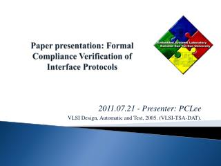 Paper presentation: Formal Compliance Verification of Interface Protocols