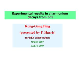 Experimental results in charmonium  decays from BES