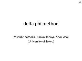 delta phi method
