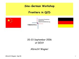 Sino-German Workshop Frontiers in QCD