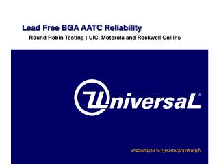 Lead Free BGA AATC Reliability