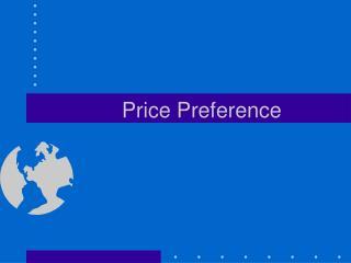 Price Preference