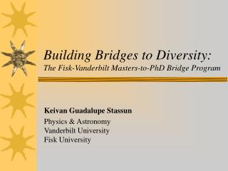 Building Bridges to Diversity:  The Fisk-Vanderbilt Masters-to-PhD Bridge Program