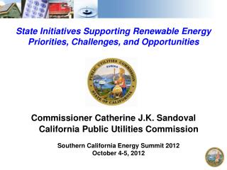 State Initiatives Supporting Renewable Energy Priorities, Challenges, and Opportunities