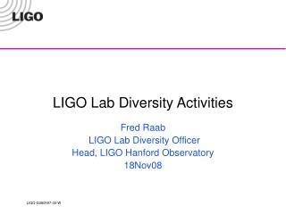 LIGO Lab Diversity Activities