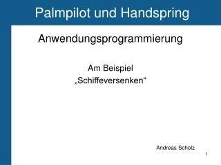 Palmpilot und Handspring