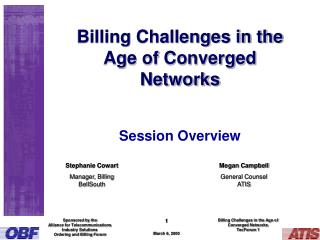 Billing Challenges in the Age of Converged Networks