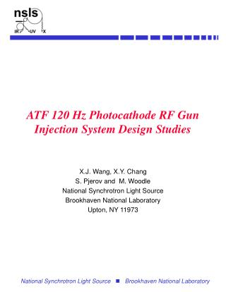 ATF 120 Hz Photocathode RF Gun Injection System Design Studies