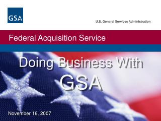 Doing Business With GSA