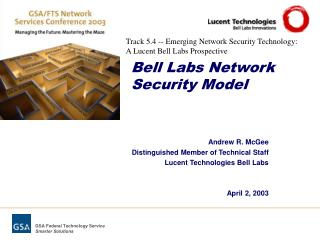 Bell Labs Network Security Model