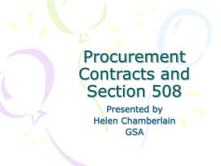Procurement Contracts and Section 508