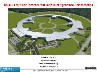 NSLS-II Fast Orbit Feedback with Individual Eigenmode Compensation