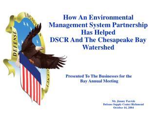 Mr. Jimmy Parrish Defense Supply Center Richmond October 14, 2004