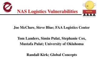NAS Logistics Vulnerabilities