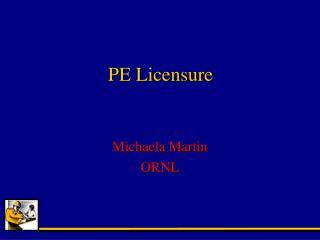 PE Licensure