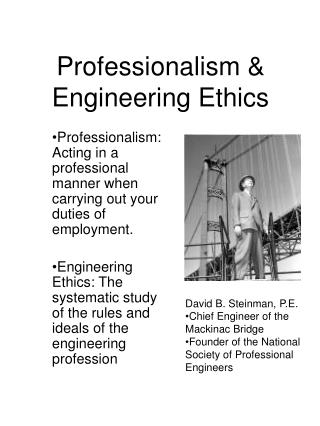 Professionalism & Engineering Ethics