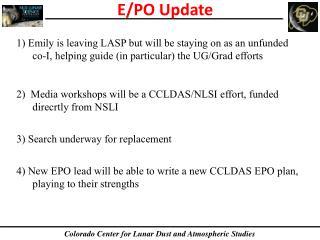 E/PO Update