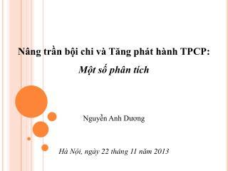 Nâng trần bội chi và Tăng phát hành TPCP: Một số phân tích