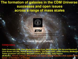The formation of galaxies in the CDM Universe: successes and open issues