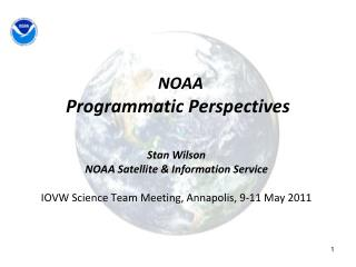 NOAA Programmatic Perspectives