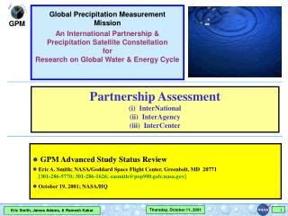 GPM Advanced Study Status Review