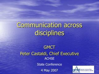 Communication across disciplines