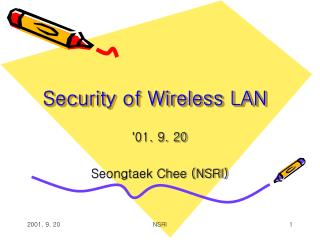 Security of Wireless LAN
