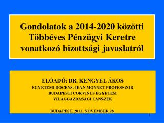 Gondolatok a 2014-2020 közötti Többéves Pénzügyi Keretre vonatkozó bizottsági javaslatról
