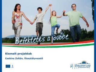 Kiemelt projektek Csabina Zoltán, főosztályvezető