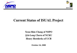 Current Status of ISUAL Project