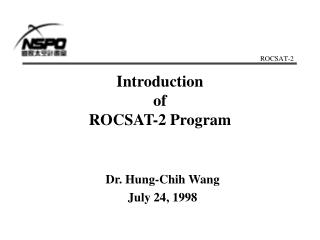 Introduction of ROCSAT-2 Program