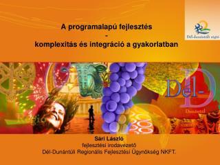 A programalapú fejlesztés -  komplexitás és integráció a gyakorlatban