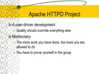 Apache HTTPD Project
