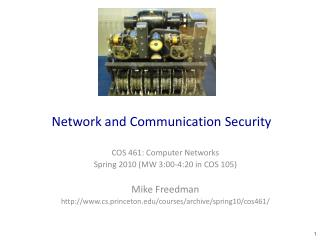 Network and Communication Security