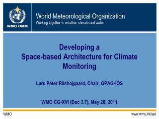 WMO CG-XVI (Doc 3.7), May 20, 2011