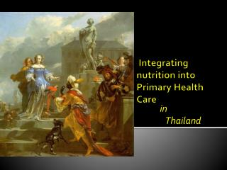 Integrating nutrition into Primary Health Care