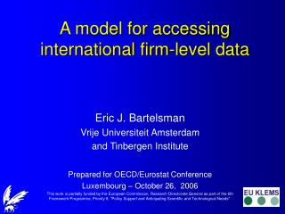 A model for accessing international firm-level data