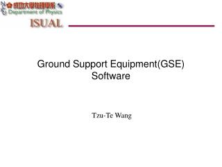 Ground Support Equipment(GSE) Software