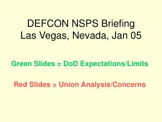 DEFCON NSPS Briefing  Las Vegas, Nevada, Jan 05