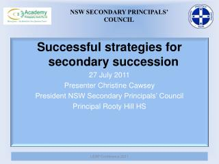 NSW SECONDARY PRINCIPALS'  COUNCIL