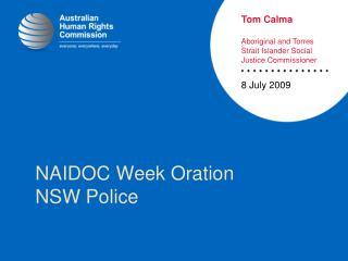 NAIDOC Week Oration NSW Police