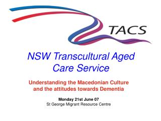 NSW Transcultural Aged  Care Service