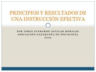 PRINCIPIOS Y RESULTADOS DE UNA INSTRUCCI N EFECTIVA