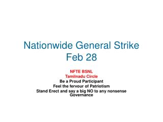 Nationwide General Strike Feb 28