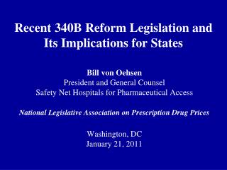 Recent 340B Reform Legislation and  Its Implications for States