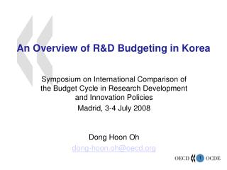An Overview of R&D Budgeting in Korea